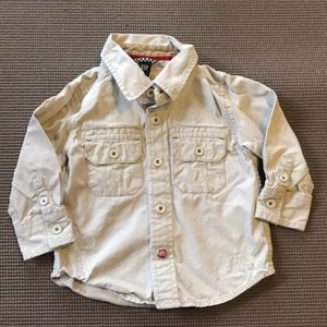 Gap toddler khaki button up shirt.
